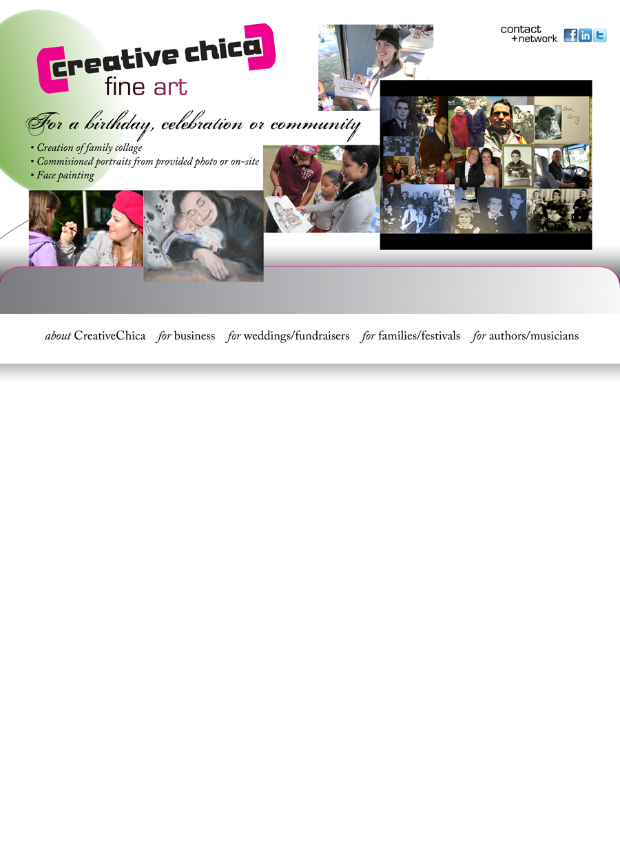 CreativeChica services for family, festivals, groups